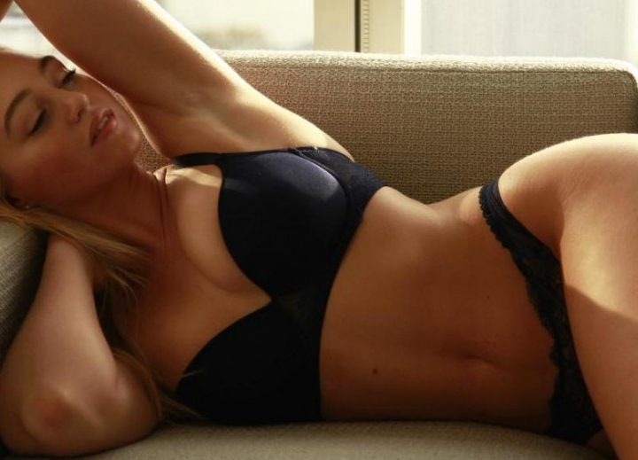Iskra Lawrence, Vibrant British Shapely Model, Perfect English